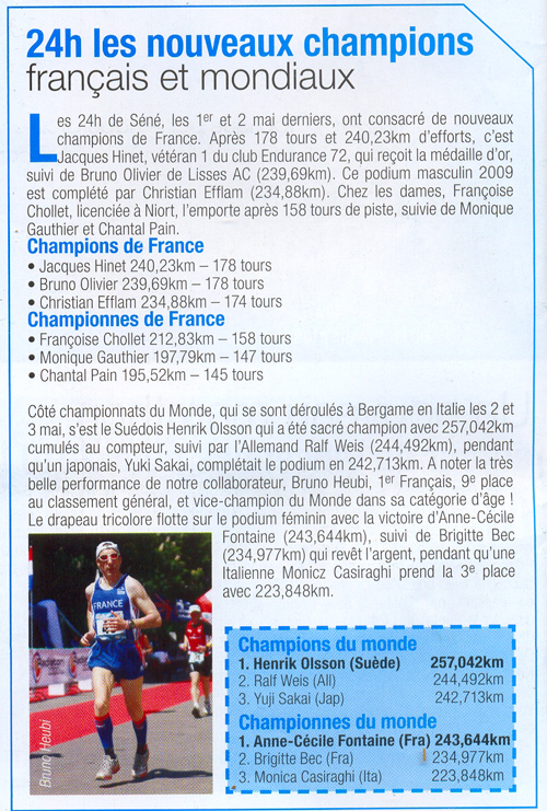 article de Running attitude